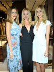 Camilla Belle, Gucci Creative Director Frida Giannini and  Nicola Peltz in Gucci