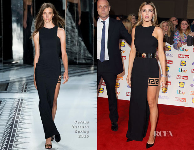 Abbey Clancy In Versus Versace 2014 Pride Of Britain Awards Red