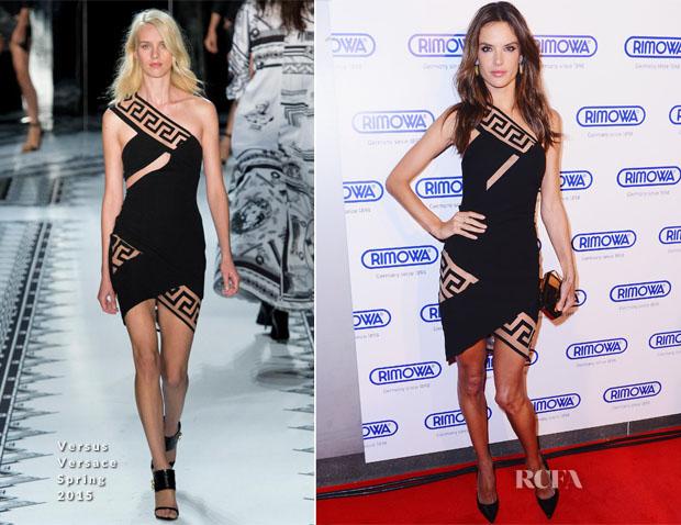 Alessandra Ambrosio In Versus Versace - Rimowa New York Store Grand Opening