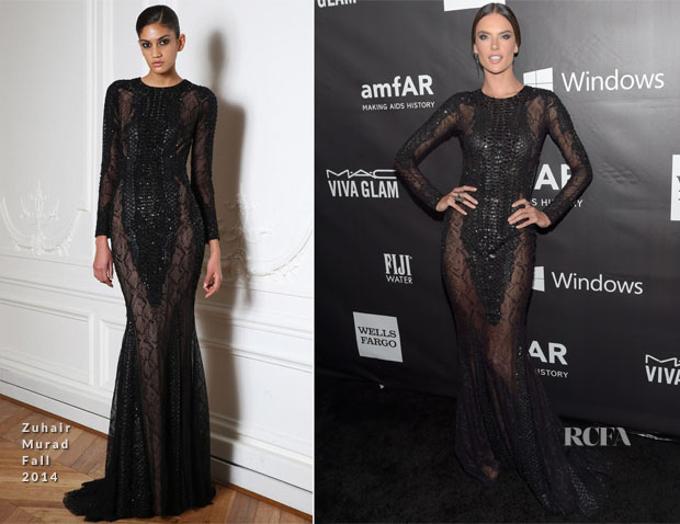 Alessandra Ambrosio In Zuhair Murad - 2014 amfAR LA Inspiration Gala