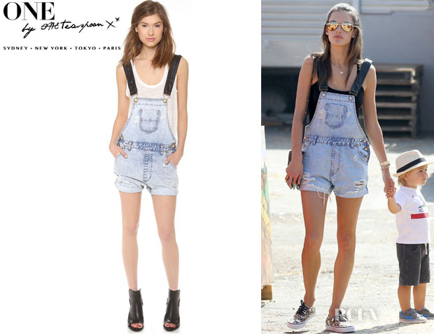 Alessandra Ambrosio's One Teaspoon Classic Superfreak Shortalls