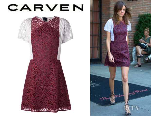 Alexa Chung's Carven Lace Shirt Dress