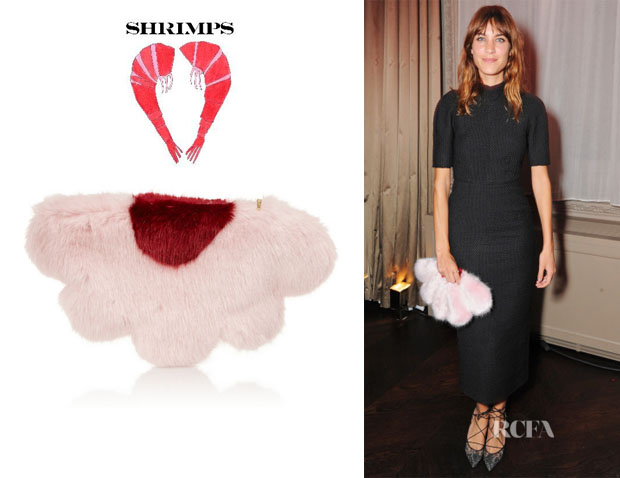 Alexa Chung's Shrimps 'Daisy' Faux Fur Clutch