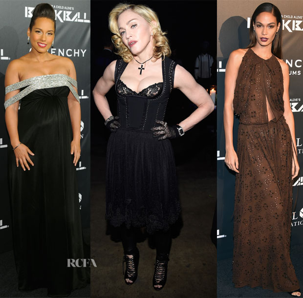 Alicia Keys, Madonna & Joan Smalls In Givenchy - 9th Annual Keep A Child Alive Black Ball