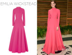 Allison Williams' Emilia Wickstead Backless Wool-Crepe Gown