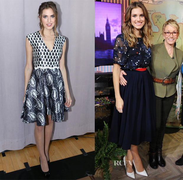 Allison Williams In Giambattista Valli & Preen - Peter Pan Live! Promo Tour