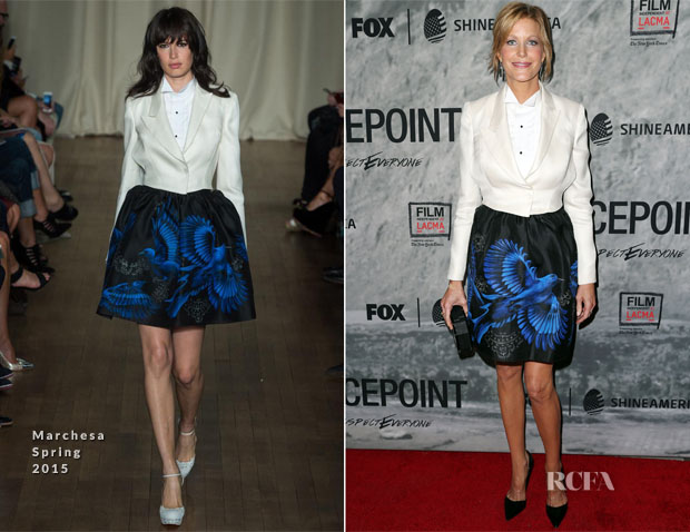 Anna Gunn In Marchesa - 'Gracepoint' LA Screening