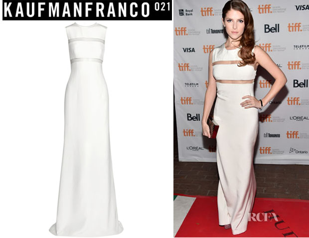 Anna Kendrick's Kaufmanfranco Tulle-Trimmed Gown