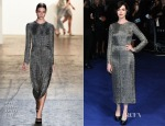 Anne Hathaway In Wes Gordon - 'Interstellar' London Premiere