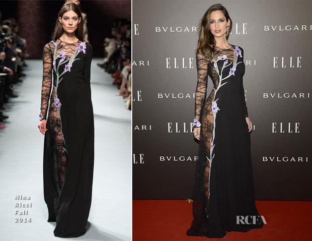 Ariadne Artiles In Nina Ricci - Elle Style Awards 2014