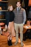 Olivia Palermo in Witchery and Ghurka and Johannes Huebl