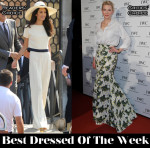 Best Dressed Of The Week - Amal Alamuddin In Stella McCartney & Cate Blanchett In Giambattista Valli Couture