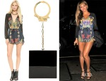 Beyonce Knowles' Style Stalker Love On Top Romper & Charlotte Olympia Handcuff Kinky Box Clutch