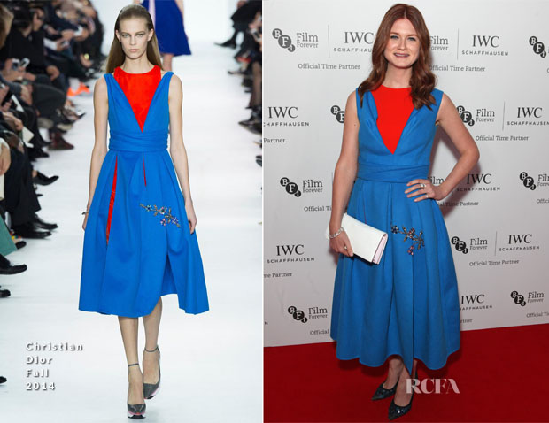 Bonnie Wright In Christian Dior - BFI London Film Festival IWC Gala Dinner