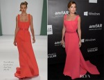 Camilla Belle In Carolina Herrera - 2014 amfAR LA Inspiration Gala
