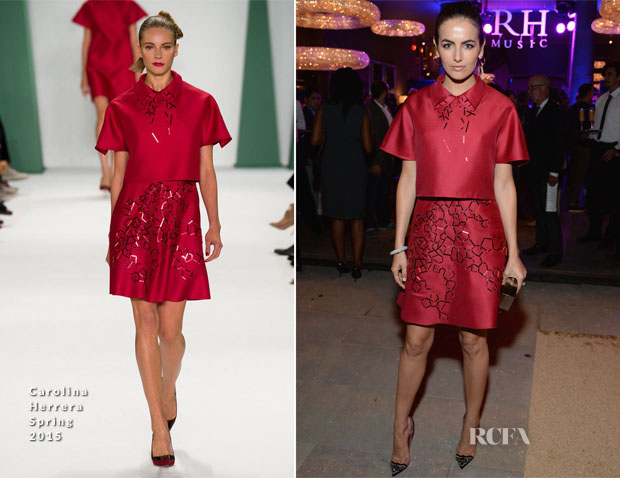 Camilla Belle In Carolina Herrera - RH West Hollywood The Gallery Opening