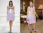 Camilla Belle In Monique Lhuillier - 2014 CFDA/Vogue Fashion Fund Event