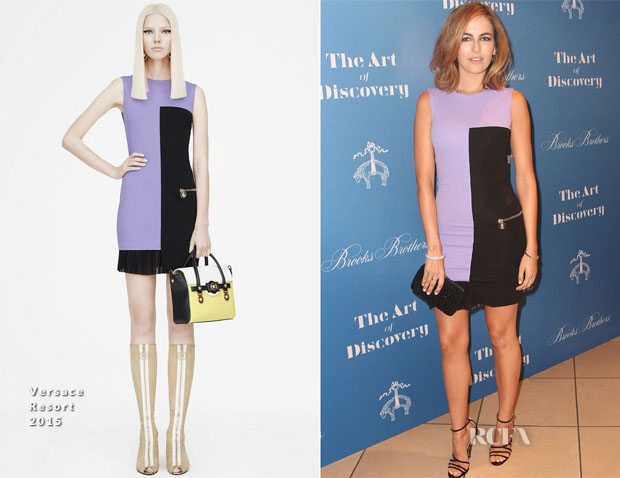 Camilla Belle In Versace - Brooks Brothers Celebrates The Launch Of Jeff Vespa's New Book 'The Art Of Discovery'