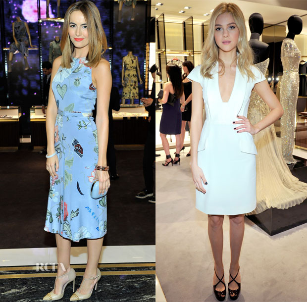 Camilla Belle and Nicola Peltz In Gucci - Gucci  Beverly Hills Store Opening Party