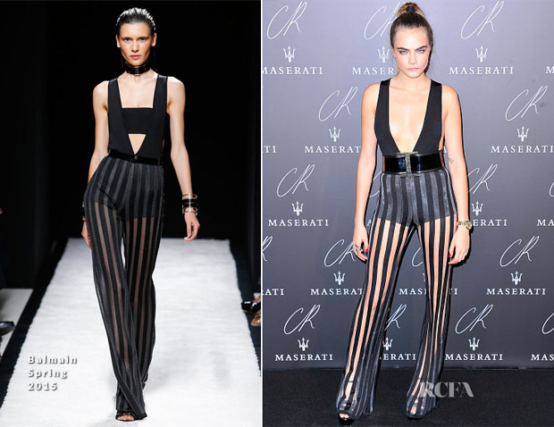 Cara Delevingne In Balmain - CR Fashion Book Issue No.5 Launch Party