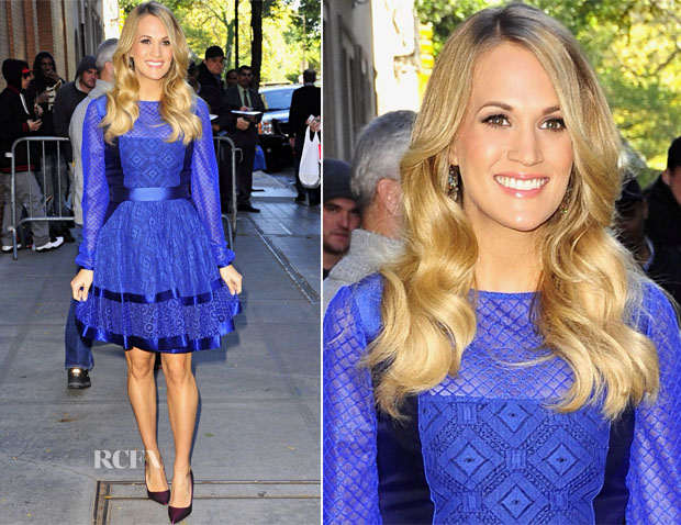 Carrie Underwood In Temperley London - The View