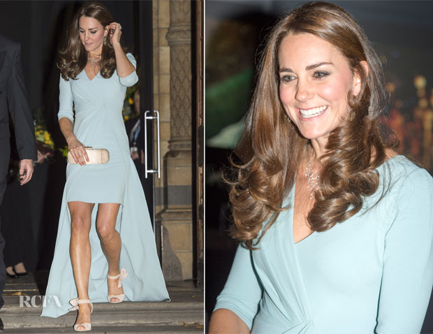 Catherine, Duchess of Cambridge In Jenny Packham - 2014 Wildlife Photography of the Year Awards