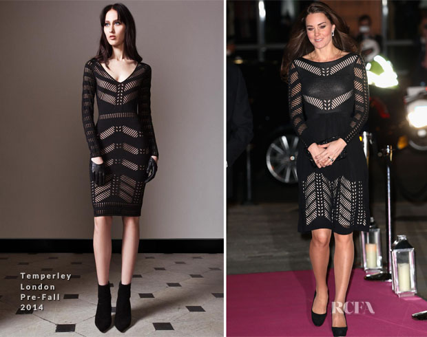 Catherine, Duchess of Cambridge In Temperley London - Action on Addiction Autumn Gala