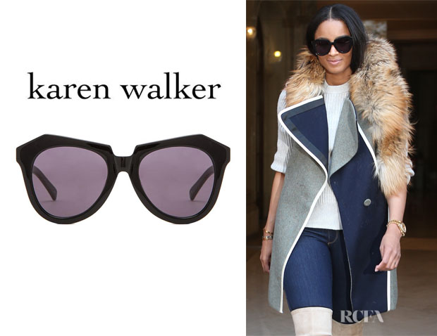 Ciara's Karen Walker 'Number One' Sunglasses
