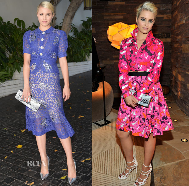 Dianna Agron In Libertine & Diane von Furstenberg - 2014 CFDA/Vogue Fashion Fund Event & Dinner