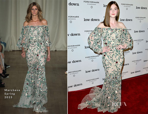 Elle Fanning In Marchesa - 'Lowdown' LA Premiere