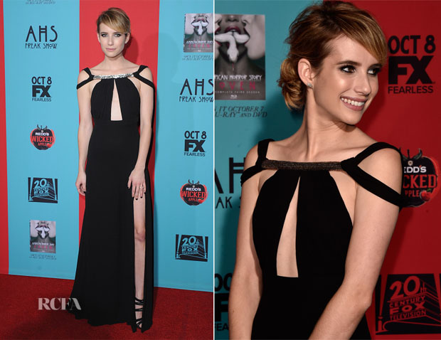 Emma Roberts In Saint Laurent -  'American Horror Story Freak Show' LA Premiere