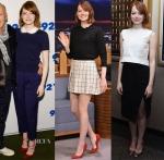 Emma Stone's 'Birdman' New York Promo Tour