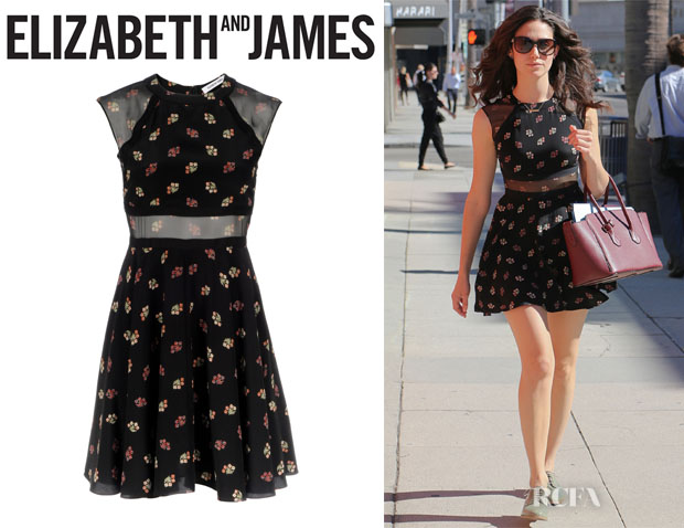 Emmy Rossum's Elizabeth and James 'Tilly' Silk Dress