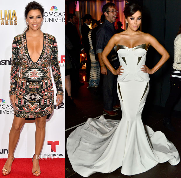 Eva Longoria's Seven Wardrobe Changes For The 2014 NCLR ALMA Awards 2