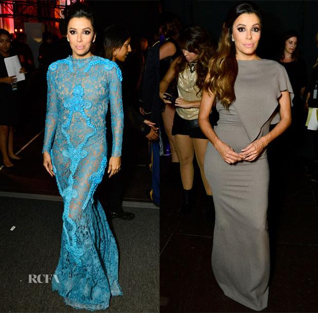Eva Longoria's Seven Wardrobe Changes For The 2014 NCLR ALMA Awards 4