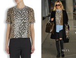 Fearne Cotton's Elizabeth and James Leopard Print Top