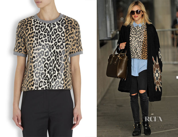 Fearne Cotton's Elizabeth and James Printed High Slit Pullover