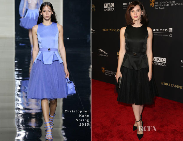 Felicity Jones In Christopher Kane - BAFTA Los Angeles Jaguar Britannia Awards