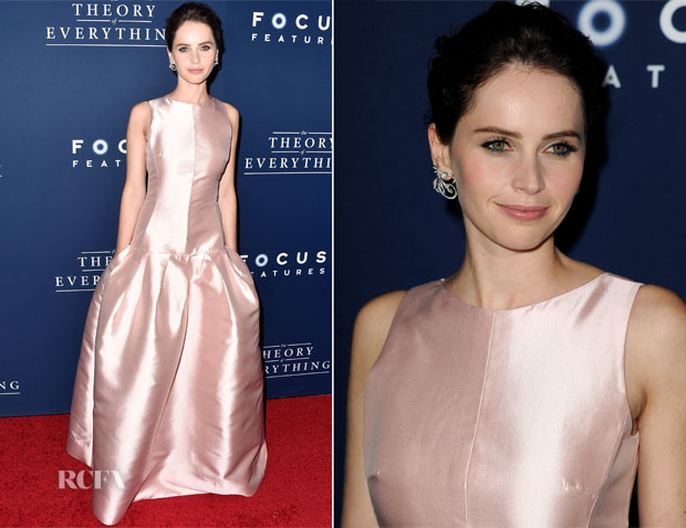 Felicity Jones In Dior - 'The Theory Of Everything' LA Premiere