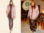 Florence Welch's Gucci Goat Hair Coat