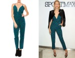 Gigi Hadid's Lovers + Friends My Way Green Animal Print Jumpsuit