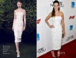 Hilary Swank In Nicholas Oakwell Couture - 'You're Not You' LA Premiere
