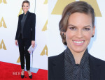 Hilary Swank In Saint Laurent - The Academy Hosts Hollywood Costume Private Luncheon