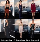 Interstellar la premiere best dressed