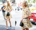 Jaime King In Giambattista Valli - Out In New York City