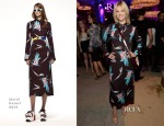 January Jones In Marni - RH West Hollywood The Gallery Opening