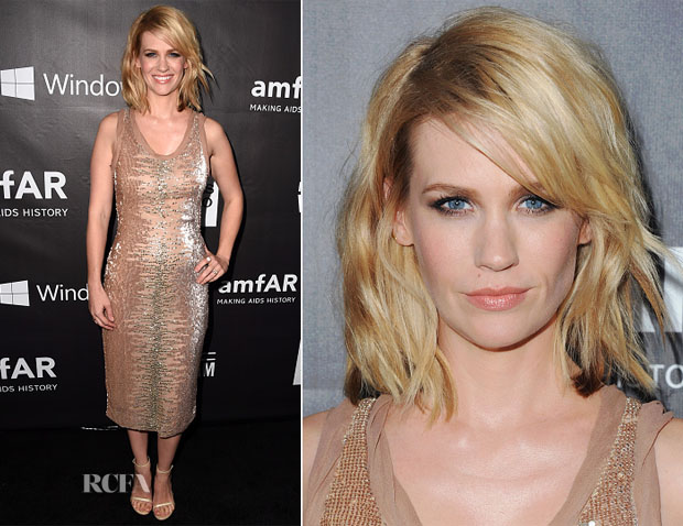 January Jones In Tom Ford - 2014 amfAR LA Inspiration Gala