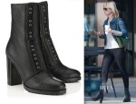 January Jones' Jimmy Choo Datchet High Heeled Combat Boots