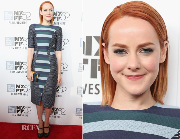 Jena Malone In Thom Browne - 'Time Out Of Mind' New York Film Festival Premiere