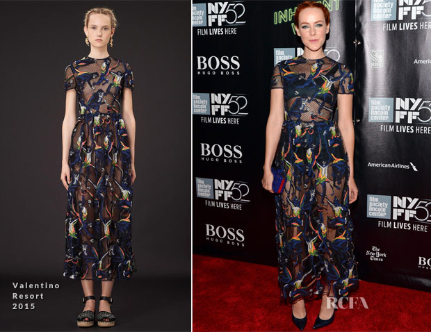 Jena Malone In Valentino - 'Inherent Vice' New York Film Festival Premiere